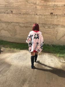 outfit curvy kimono dress